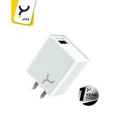 Why Wall Charger 2.4A Chaste Plus White
