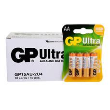 GP Ultra ถ่านอัลคาไลน์ AA (1กล่อง/10แพ็ก/40ก้อน)