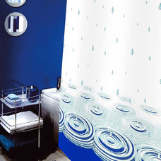 WSPม่านห้องน้ำเนื้อผ้าไนล่อน 100% พิมพ์ลาย ขนาด 180x180 ซม.ลาย STREAM