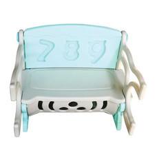 เก้าอี้เด็กนั่ง เก็บของได้ สี ฟ้า/เทา