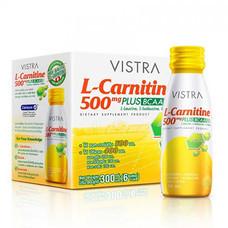 VISTRA L-Carnitine 500mg Plus BCAA เเอล-คาร์นิทีน 500 มก. พลัส พร้อมดื่ม 50 มล. บรรจุ 6 ขวด