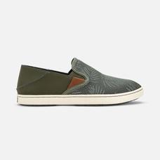 Olukai รองเท้าผู้หญิง 20271-TZER W-PEHUEA DUSTY OLIVE/PALM 7.5 US