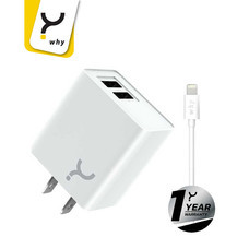 Why Wall Charger + Lightning Chaste White