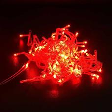 ไฟ LED 100 หัว สายใส 1.5 ยาว 10 ม. กระพริบ สีแดง [LED-R1]