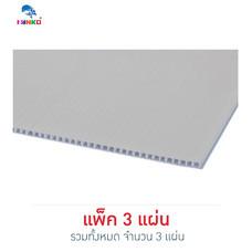 PANKO แผ่นฟิวเจอร์บอร์ด 65x49 ซม. หนา 2 มม. สีขาว (แพ็ก 3 แผ่น)