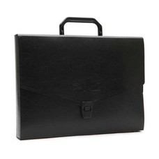 Flamingo กระเป๋าพลาสติก A4 ฟลามิงโก้ 946 สีดำ