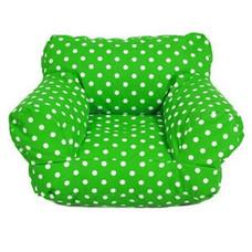 Your Style บีนแบ็กโซฟานั่งพื้น ผ้าแคนวาสลายจุด ขาว-เขียว