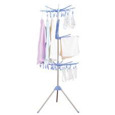 Shopsmart ราวตากผ้า3ชั้น_หมุนได้360องศา-สีฟ้า
