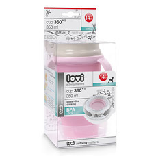 ถ้วย Lovi 360 Cup Retro with Handles (350 มล.) Active- Light Pink
