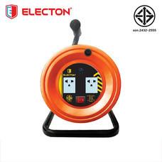 ELECTON ล้อชุดสายพ่วงไฟ มอก. VCT 3X1.0 10M เหล็ก รุ่น EN2-M31010