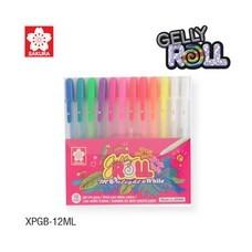 Sakura เซ็ทปากกาเจลลี่โรล รุ่นมูนไลท์ Gelly Roll Moonlight&White 12 ด้าม