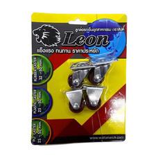LEON ล้อ PU ตราสิงห์แป้นหมุน/แป้นตาย 25 มม. (แบบแพ็ก)