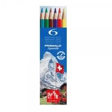 Caran D'Ache ดินสอสีระบายน้ำ Prismalo 6 สี กล่องกระดาษ