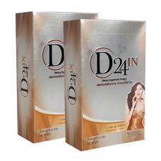 D24 IN (ดี-ทเวนตี้โฟร์ อิน) แพ็ก 2 กล่อง อาหารเสริมควมคุมน้ำหนัก รวมบรรจุ 40 แคปซูล
