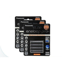 eneloop Pro 950 mAh Rechargeable Battery ถ่านชาร์จ AAA x 12ชิ้น - Black รุ่น BK-4HCCE/4BT x 3 แพ็ก (4 ก้อน/ แพ็ก)