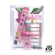 V.S Stationery ชุดเครื่องเขียน Sailor Moon คละสี (8 ชิ้น/ชุด)