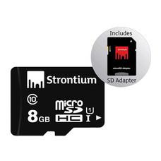 Strontium microSD 8 GB class 10 w/adapter