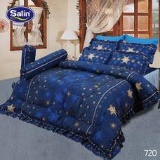 Satin ผ้านวม + ผ้าปูที่นอน ลาย 720 6 ฟุต