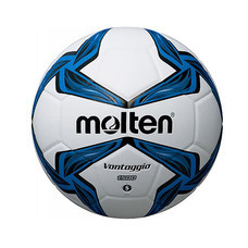 Thai Sports ฟุตบอล Molten หนังพีวีซี (PVC) หนังอัด ขนาดและน้ำหนักมาตรฐาน เบอร์ 5 สีขาว/น้ำเงิน/ดำ รหัสสินค้า B2AF5V1500BL