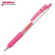 Zebra ปากกาหมึกเจล Sarasa Clip 0.5 มม. JJ15-P หมึกสีชมพู (12 ด้าม/กล่อง)
