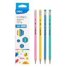 Deli C011 ดินสอไม้ HB ทรงหกเหลี่ยม (แพ็ก 12 แท่ง)