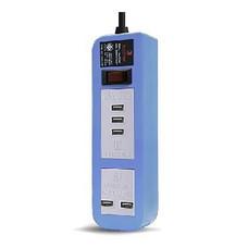 ELECTON สายพ่วง ปลั๊ก ULTRA FAST CHARGE USB X5 1 สวิตช์ 5 เมตร รุ่น EP-A05U5 สีฟ้า