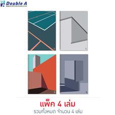 Double A สมุดสันห่วง Monthly Planner A4 คละลาย Structure (แพ็ก 4 เล่ม)