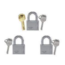 jartonPadlock 0-119403กุญแจลูกปืนโครม MK 3x40 มม.