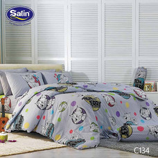 Satin Junior ผ้าปูที่นอน ลาย C134 3.5 ฟุต