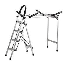 Shopsmart Aluminum ladder with Clothes Dryer Hanger