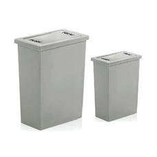 DKW HH-308/2 เซ็ต Slim swing bin 8 L + 20 L Gray