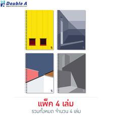 Double A สมุดสันห่วง Monthly Planner A5 มีเส้น คละลาย Structure (แพ็ก 4 เล่ม)