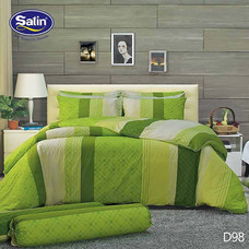 Satin ผ้านวม + ผ้าปูที่นอน ลาย D98 5 ฟุต