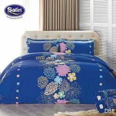 Satin ผ้าปูที่นอน ลาย D81 6 ฟุต