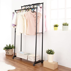 Shopsmart ราวแขวนผ้า 2 บาร์ รุ่น Durablicc