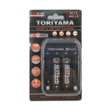 Toriyama แท่นชาร์จ + ถ่านชาร์จ รุ่น AA2950 แพ็ก 2