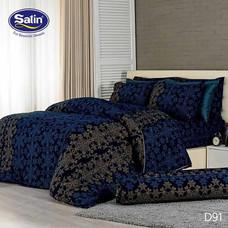 Satin ผ้านวม + ผ้าปูที่นอน ลาย D91 5 ฟุต