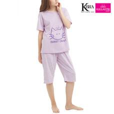 Kullastri KBra ชุดนอนผ้า Top Dye ใส่เป็นชุดลำลองได้ รุ่น SNTSH1PVI สีม่วง