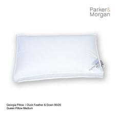 Parker & Morgan Georgia Duck Feather & Down 80/20 Pillow Queen ไซส์(นุ่มกำลังดี)