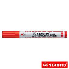STABILO Plan ปากกาไวท์บอร์ด หัวตัด Red