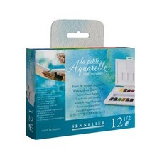 SENNELIER ชุดสีน้ำก้อน Travel Box 12 สี