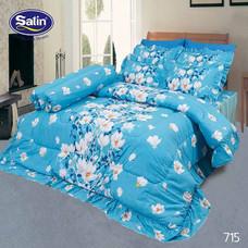 Satin ผ้านวม + ผ้าปูที่นอน ลาย 715 5 ฟุต
