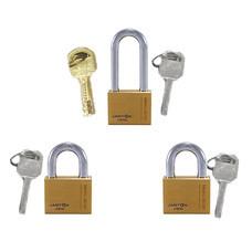 jartonPadlock 0-119406 กุญแจลูกปืน ทองเหลืองแท้ MK 3x40 มม.