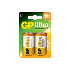 GP ถ่าน รุ่น Ultra Alkaline D 2 ก้อน