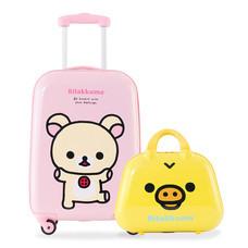 Rilakkuma กระเป๋าเดินทางสกรีนลายโคริลัคคุมะ ขนาด 20 นิ้ว : สีชมพู (แถมใบเล็กสีเหลือง)