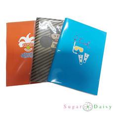 Sugar Daisy สมุดโน๊ตมุงหลังคา Paper Chic คละลาย (แพ็ก 3 เล่ม)