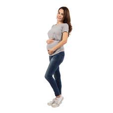 Bambino Materna เสื้อยืดคลุมท้อง สีเทา