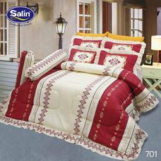 Satin ผ้านวม + ผ้าปูที่นอน ลาย 701 6 ฟุต