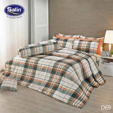Satin ผ้านวม + ผ้าปูที่นอน ลาย D69 5 ฟุต