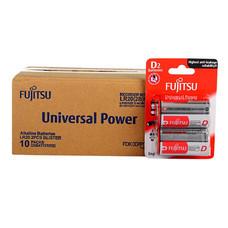 Fujitsu ถ่านอัลคาไลน์ Universal รุ่น LR20(2B)FU Size D กล่อง 2x10